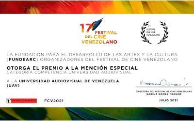 FUNDEARC otorga premio a La Universidad Audiovisual de Venezuela